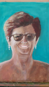 Debbie 60th birthday Oil on board.