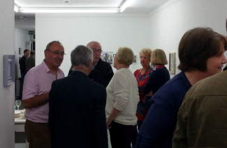 Photo of the opening of the WNAA Small Works exhibition